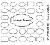 vintage frame set isolated on... | Shutterstock .eps vector #411920836