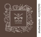 background with hipster... | Shutterstock .eps vector #411929290
