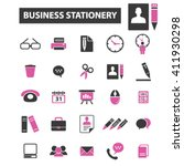 business stationery icons  | Shutterstock .eps vector #411930298