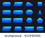 vector set shapes for message... | Shutterstock .eps vector #411930340