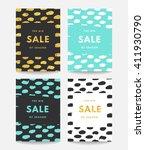 spring sale design. collection... | Shutterstock .eps vector #411930790