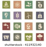 alternative energy web icons... | Shutterstock .eps vector #411932140