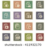 document web icons for user... | Shutterstock .eps vector #411932170