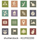 day of skouts web icons for... | Shutterstock .eps vector #411932200