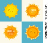Sun Icon Set. Sun Icon Vector....
