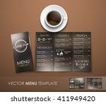 design triple unfolding coffee... | Shutterstock .eps vector #411949420