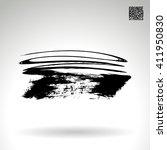 brush stroke and texture.... | Shutterstock .eps vector #411950830