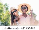 portrait of young women in... | Shutterstock . vector #411951370