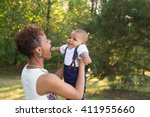 a mother and her infant son | Shutterstock . vector #411955660