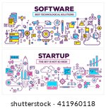 vector creative concept... | Shutterstock .eps vector #411960118