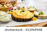 dairy products  cheese  butter  ... | Shutterstock . vector #411969448