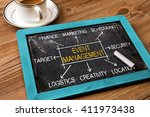 event management flowchart... | Shutterstock . vector #411973438