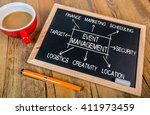 event management flowchart... | Shutterstock . vector #411973459