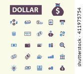 dollar icons  | Shutterstock .eps vector #411975754
