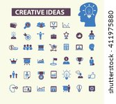 creative ideas icons  | Shutterstock .eps vector #411975880