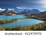 torres del paine national park  ... | Shutterstock . vector #411975970