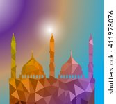 beautiful religious eid... | Shutterstock .eps vector #411978076