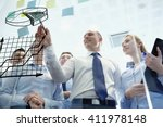 business  people  teamwork and... | Shutterstock . vector #411978148