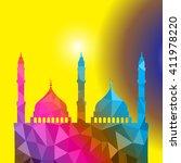 beautiful religious eid... | Shutterstock .eps vector #411978220