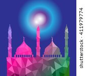 beautiful religious eid... | Shutterstock .eps vector #411979774
