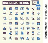online marketing icons  | Shutterstock .eps vector #411980230