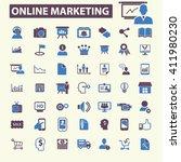 online marketing icons    Shutterstock .eps vector #411980230