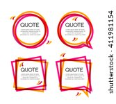 vector set quote frame ... | Shutterstock .eps vector #411981154
