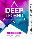 club electronic deep techno... | Shutterstock .eps vector #411981214