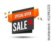 sale banner. marketing...   Shutterstock .eps vector #411981223