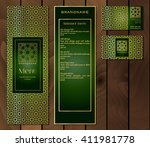 vector illustration of a menu... | Shutterstock .eps vector #411981778