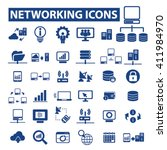 networking icons  | Shutterstock .eps vector #411984970