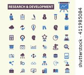 research development icons  | Shutterstock .eps vector #411985084