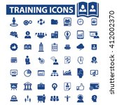 training icons  | Shutterstock .eps vector #412002370