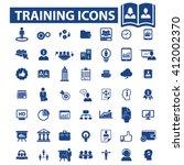 training icons  | Shutterstock .eps vector #412002370