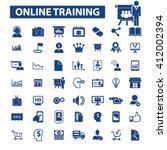 online training icons    Shutterstock .eps vector #412002394