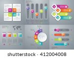 vector illustration set... | Shutterstock .eps vector #412004008