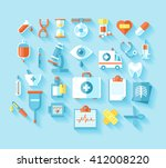 medical and hospital icons set | Shutterstock . vector #412008220