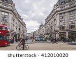 london nov 09 view of oxford... | Shutterstock . vector #412010020