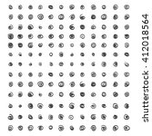 pattern. hand drawn dot. ink... | Shutterstock .eps vector #412018564