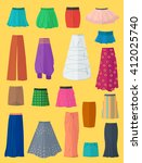 a diverse collection of skirts... | Shutterstock .eps vector #412025740