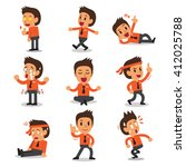 cartoon businessman character... | Shutterstock .eps vector #412025788