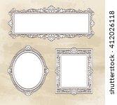 set of banners. vintage frames. ... | Shutterstock .eps vector #412026118