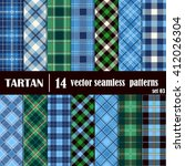 Set Tartan Seamless Pattern....