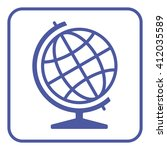 globe icon | Shutterstock .eps vector #412035589