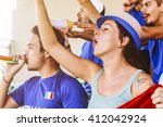 supporters from italy at... | Shutterstock . vector #412042924