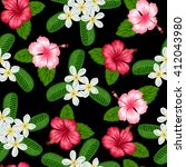seamless pattern with tropical... | Shutterstock .eps vector #412043980