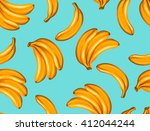 seamless pattern with bananas.... | Shutterstock .eps vector #412044244