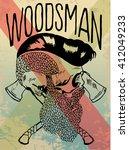 woodsman vector | Shutterstock .eps vector #412049233