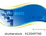 white and blue vector abstract... | Shutterstock .eps vector #412049740