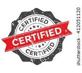 certified grunge stamp vector... | Shutterstock .eps vector #412051120